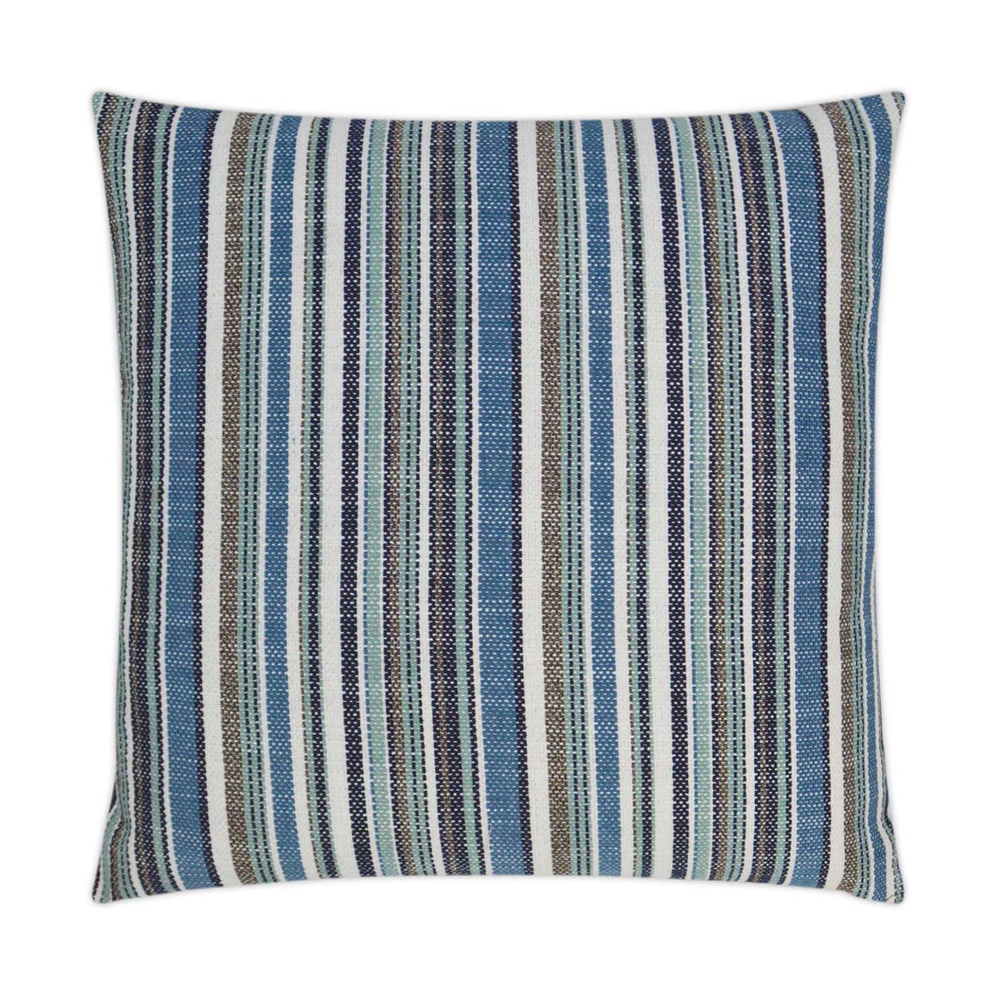 fancy navy stripe indoor outdoor lux pillow
