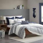 Malibu Boho Navy And White Comforter Set Queen Caron S Beach House