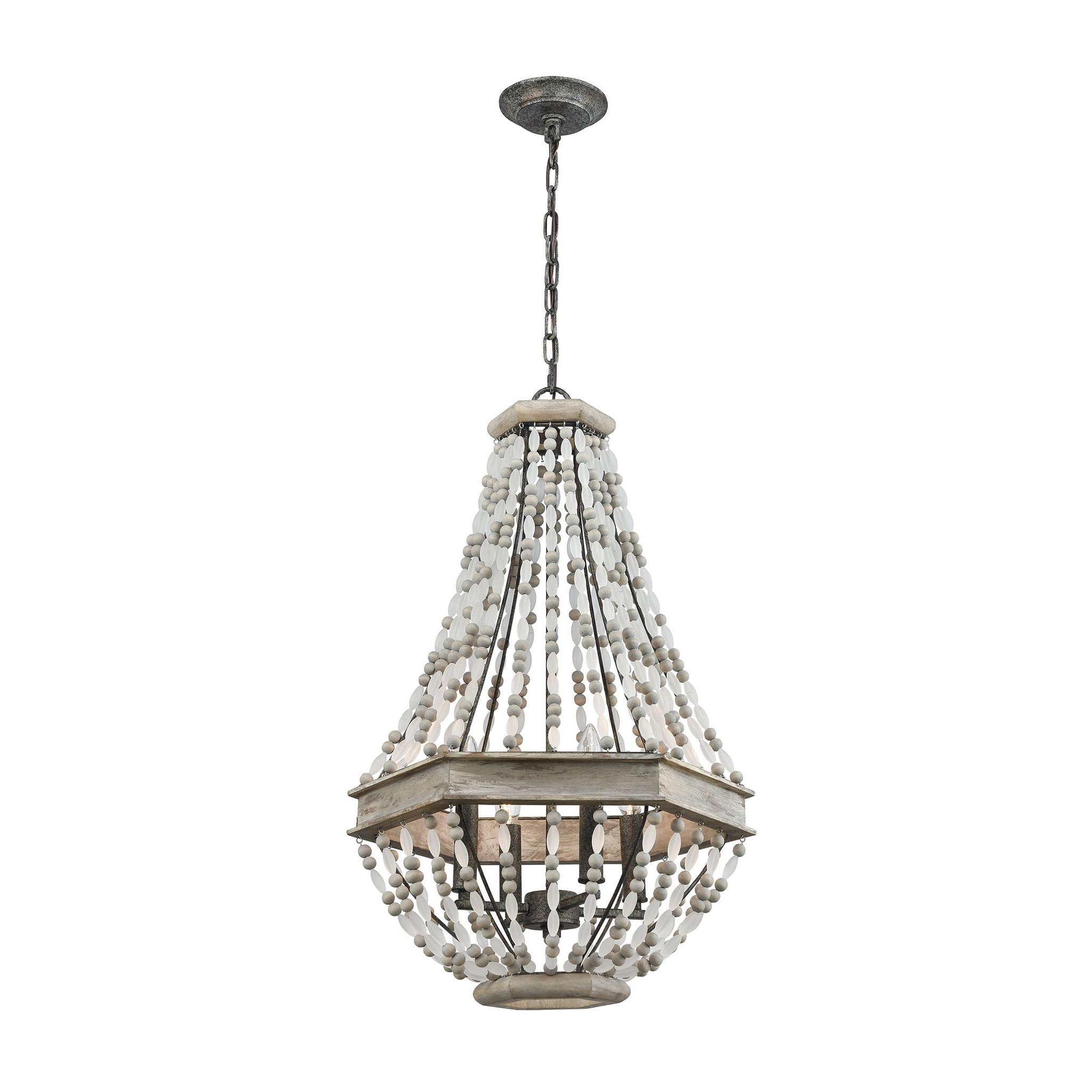summerton beaded 4 light chandelier