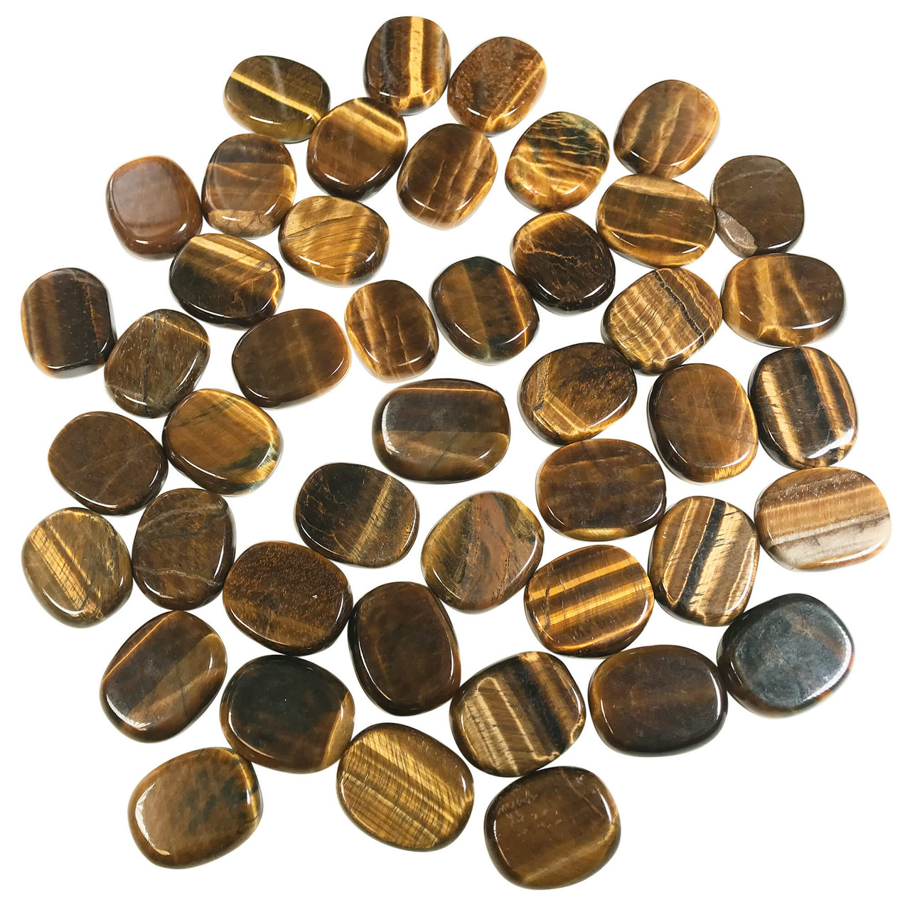 One Natural Tiger S Eye Gemstone Pocket Palm Stone Crystal 1 Rsh030