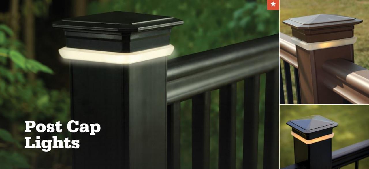 timbertech led post cap deck lights