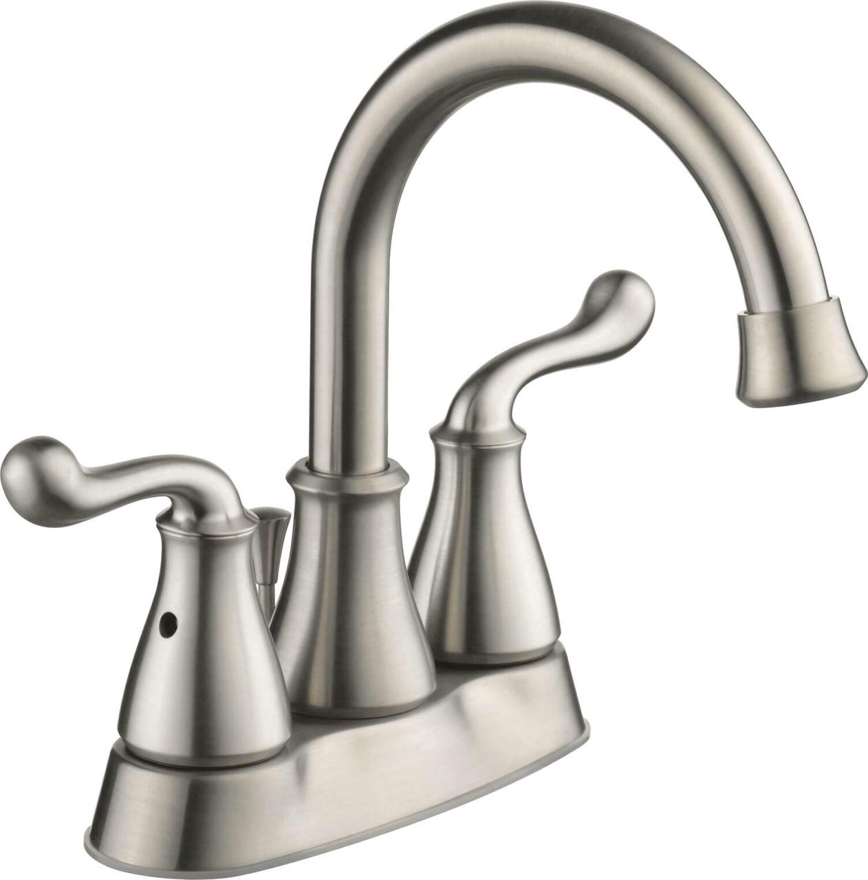 better homes gardens safford 4 centerset bath faucet satin nickel