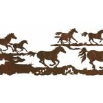 84 Running Wild Horses Metal Wall Art Western Wall Decor