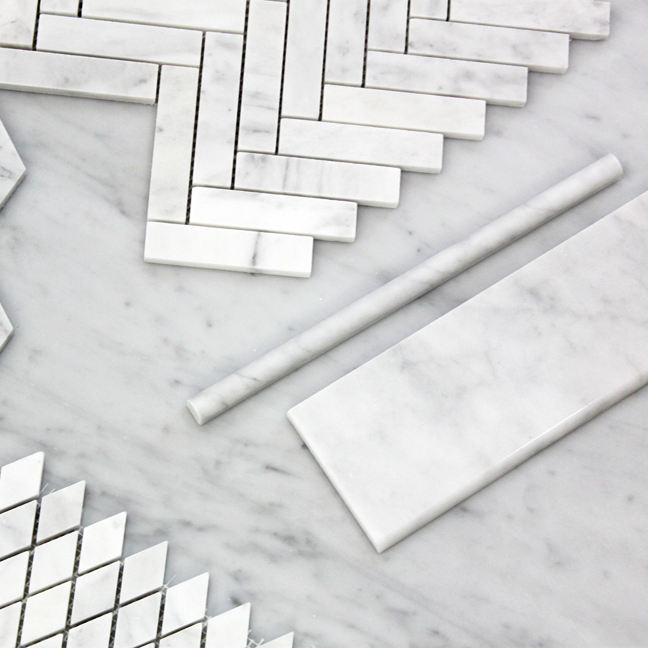 carrara marble bullnose pencil molding