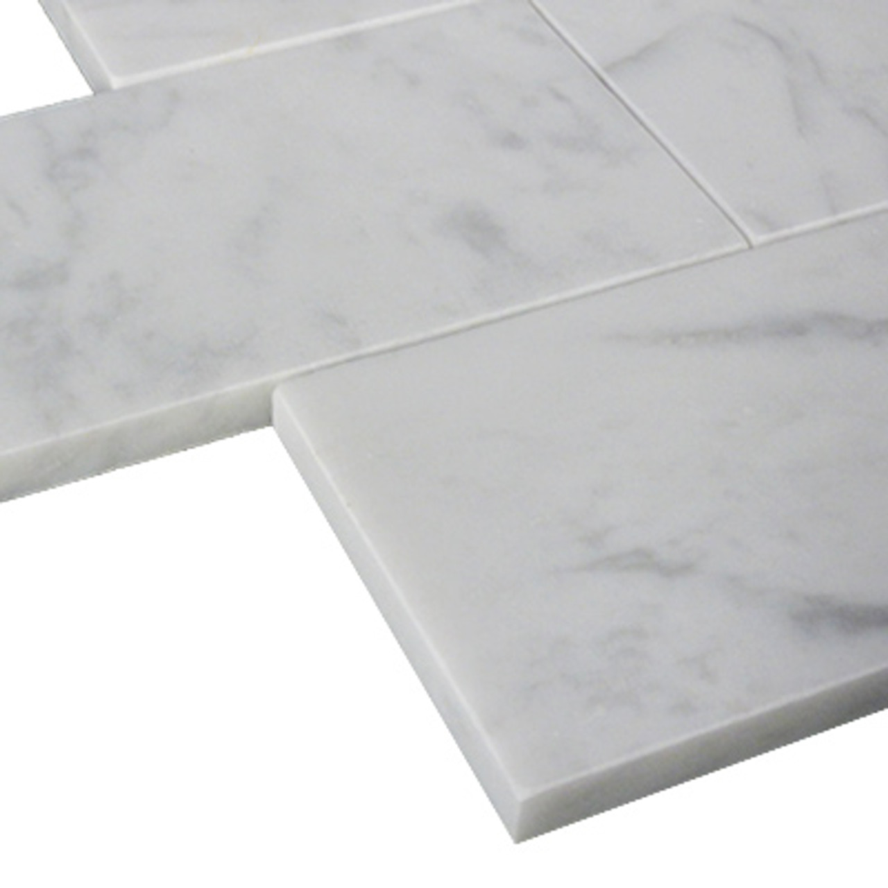 carrara white marble subway tile honed