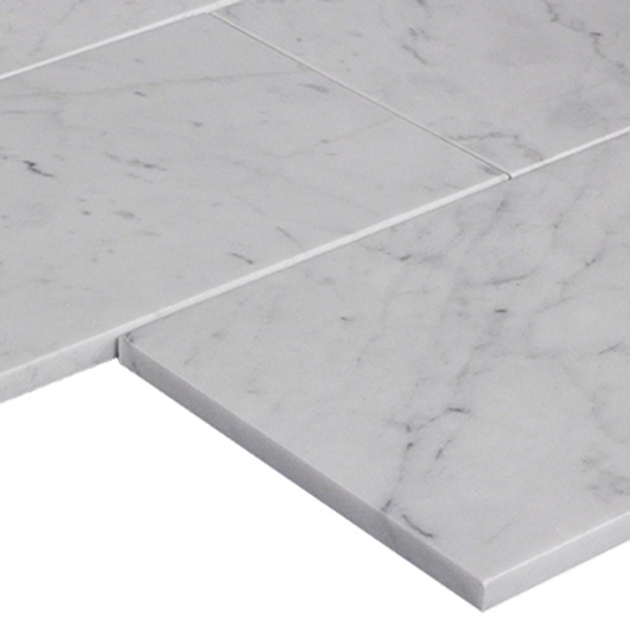 9 x 18 carrara white marble tile honed
