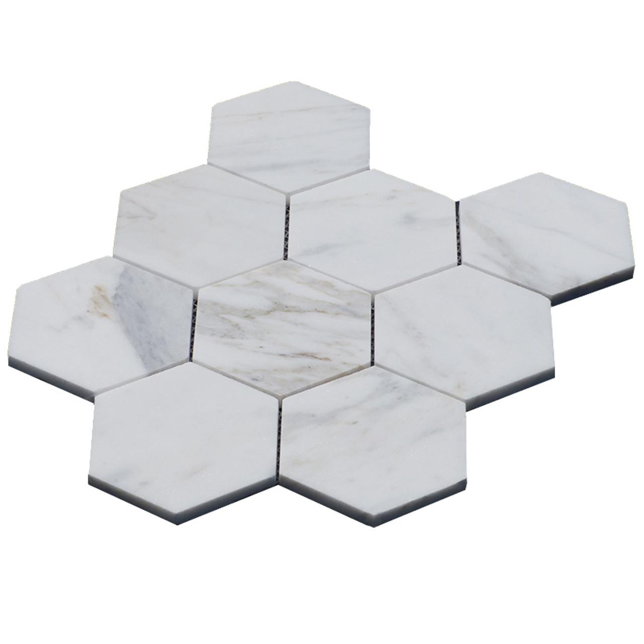 https www carraramarble com 4 inch hexagon calacatta gold