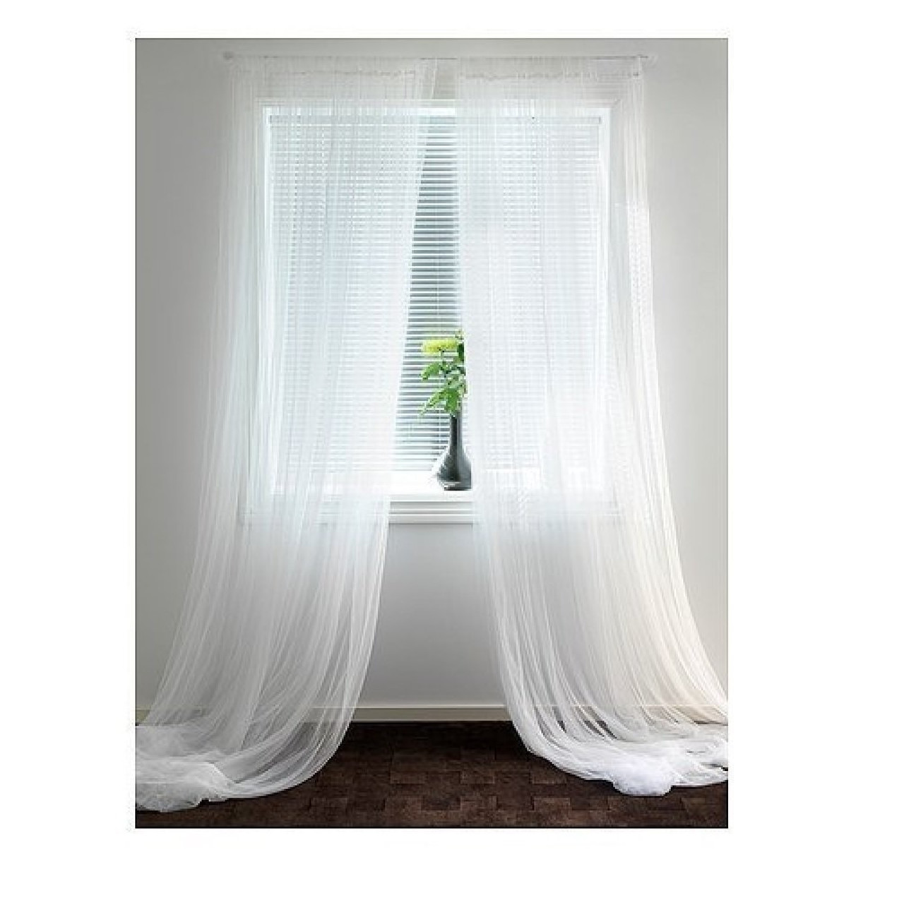 ikea lill sheer curtains 2 panels 98 x 110 white new