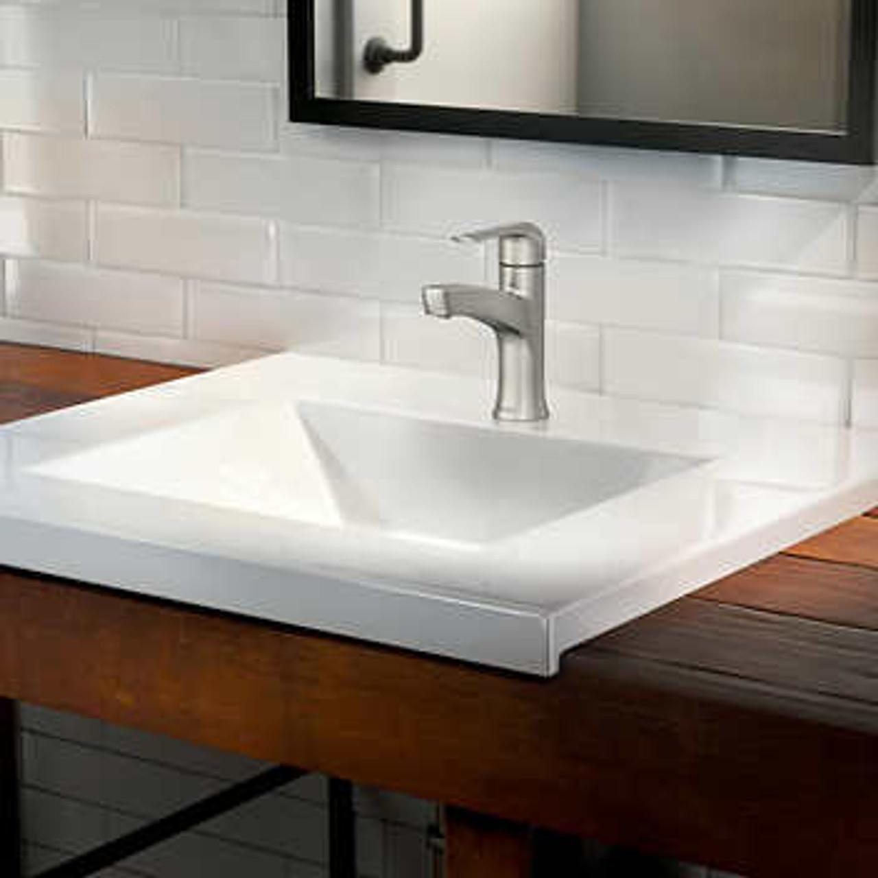 moen tilson single handle bathroom faucet in brushed nickel