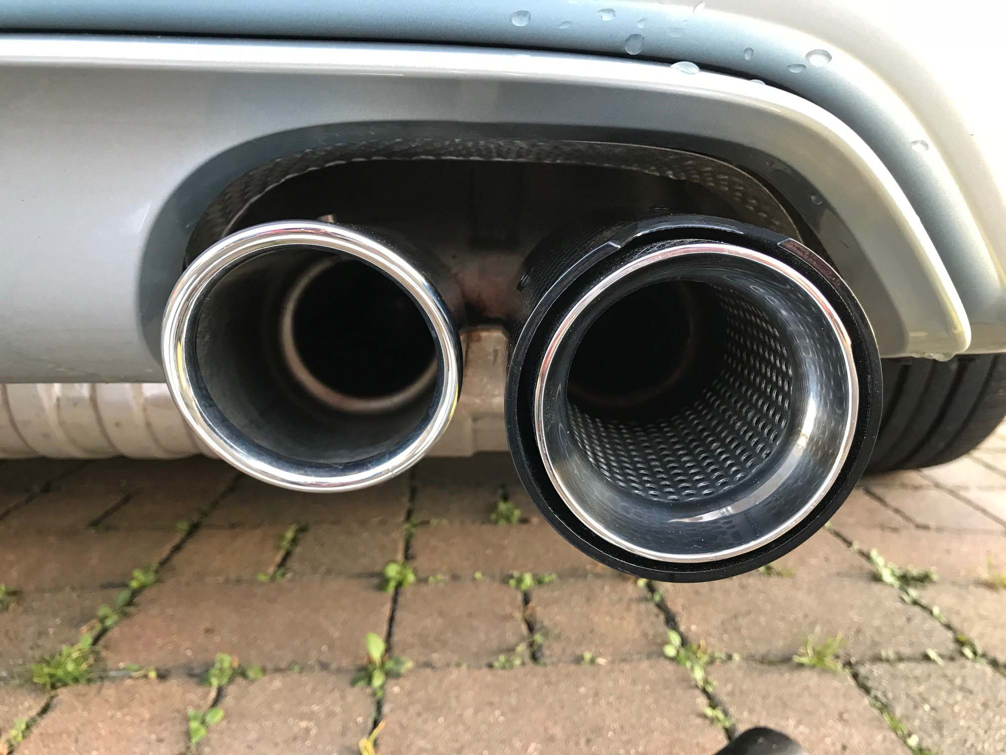 bmw m2 m3 m4 m5 m6 carbon fibre perforated exhaust tips