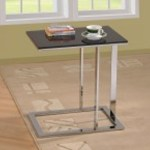 Very Stylish Accent Table The Base Can Slide Under The Sofa For Ease Of Use Savingbig Ca
