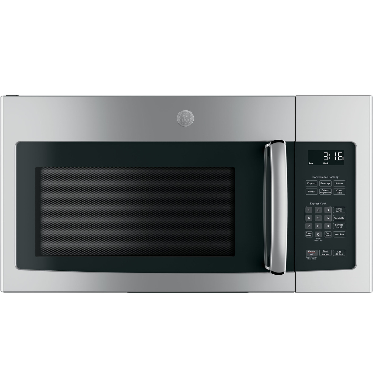 ge 1 6 cu ft over the range microwave oven with recirculating venting jnm3163rjss