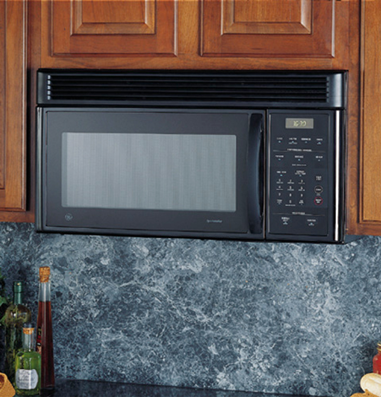 ge spacemaker over the range microwave oven with recirculating vent jvm1631bj