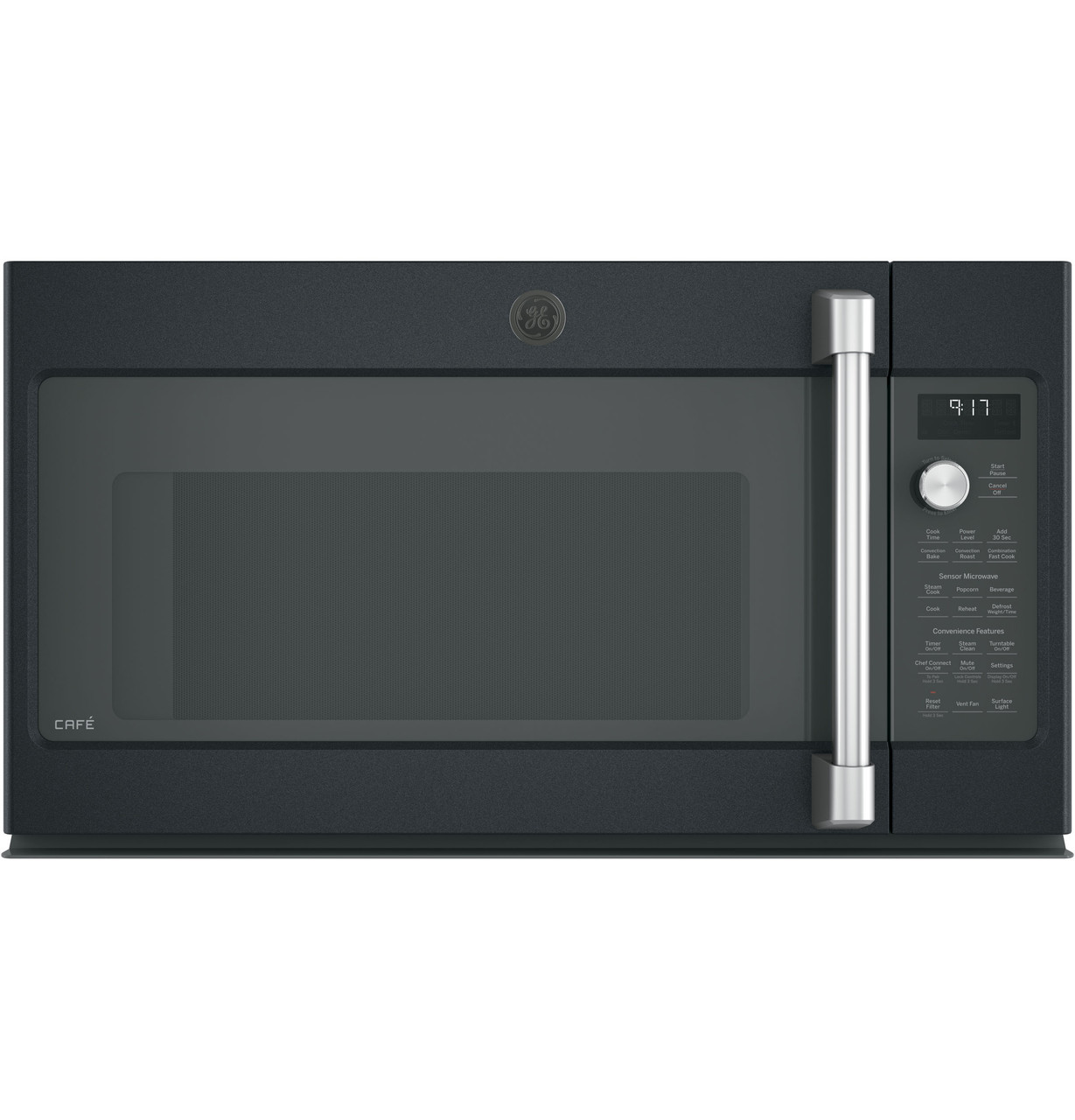 ge cafe series 1 7 cu ft convection over the range microwave oven cvm9179elds