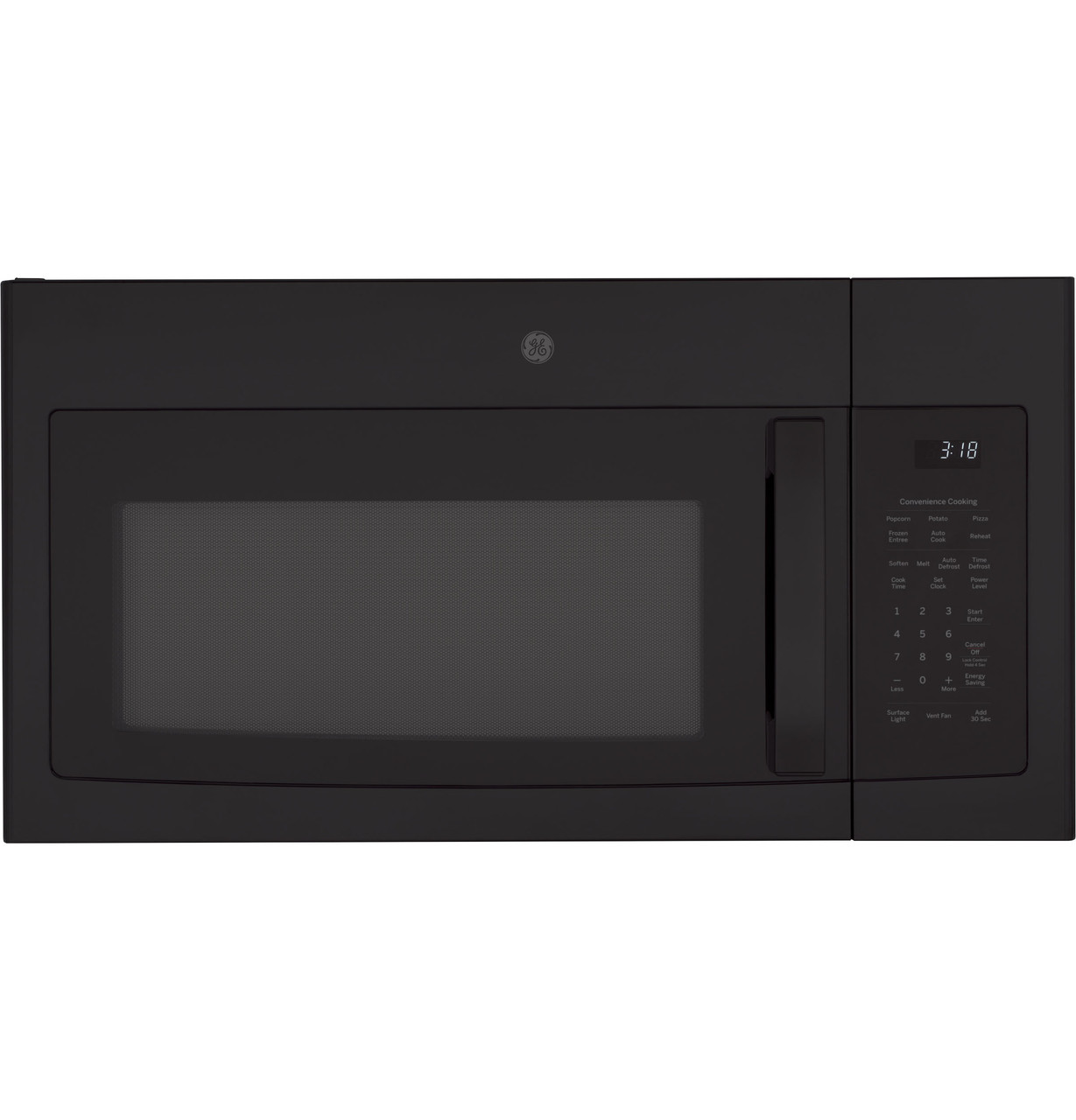 ge 1 8 cu ft over the range microwave oven with recirculating venting jnm3184dpbb