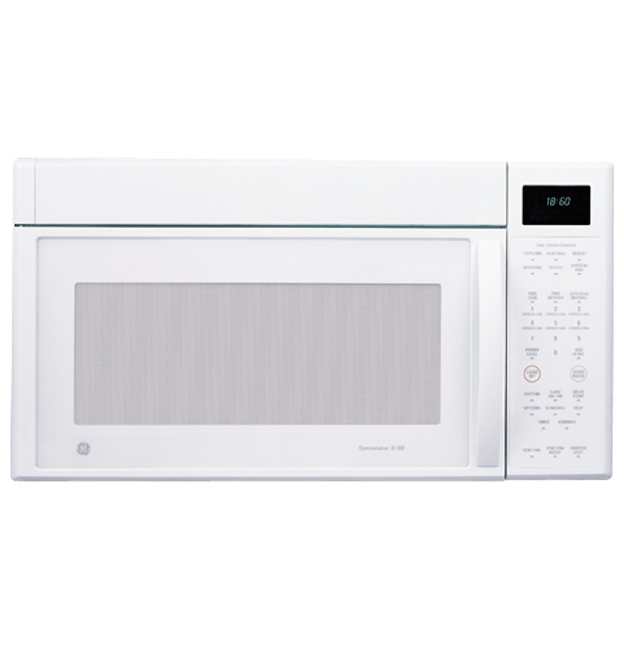 ge profile spacemaker xl1800 microwave oven with outside venting 1100 watts jvm1860wf