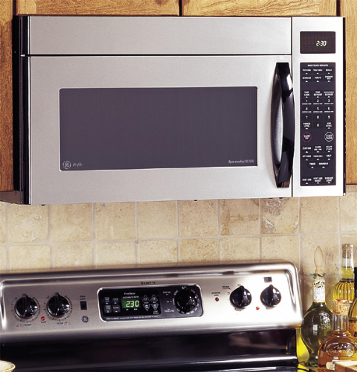 ge profile spacemaker xl1800 microwave oven with recirculating venting jvm1861sd