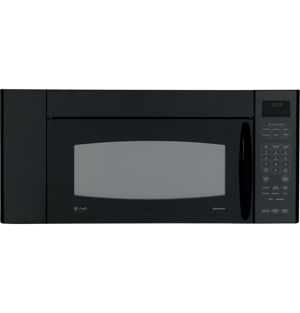 ge profile spacemaker xl 1800 36 microwave oven jvm3670bf