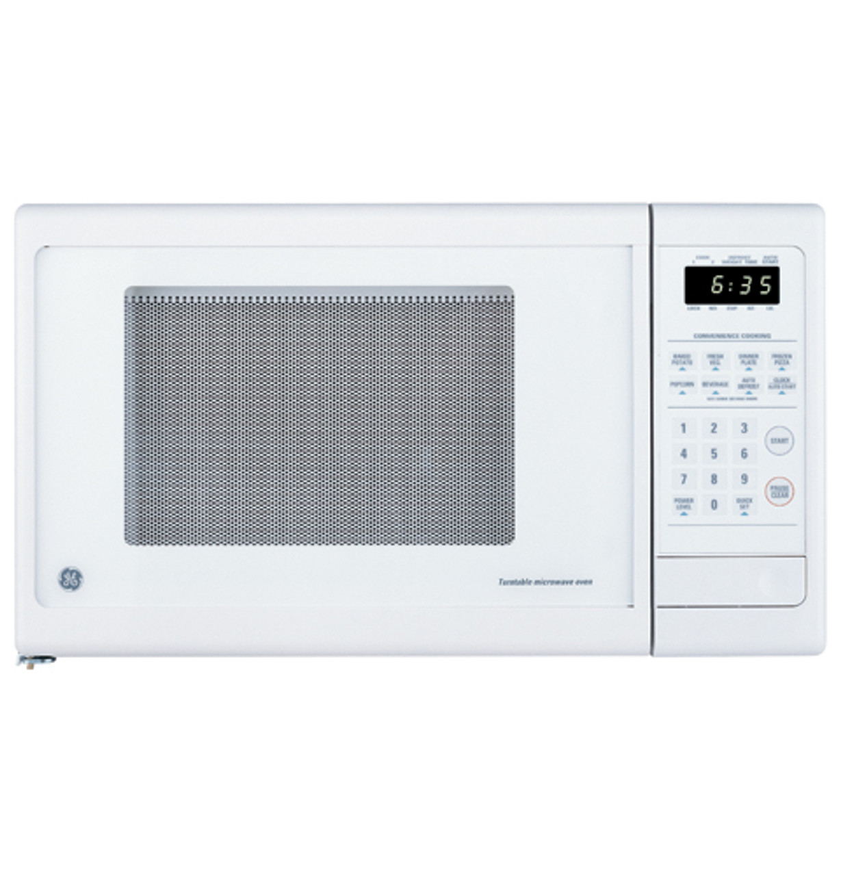 ge countertop turntable microwave oven je635wc