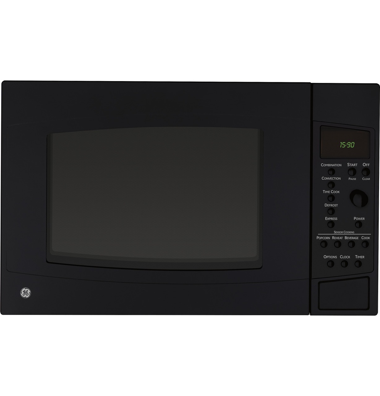 ge profile series 1 5 cu ft countertop convection microwave oven peb1590dmbb