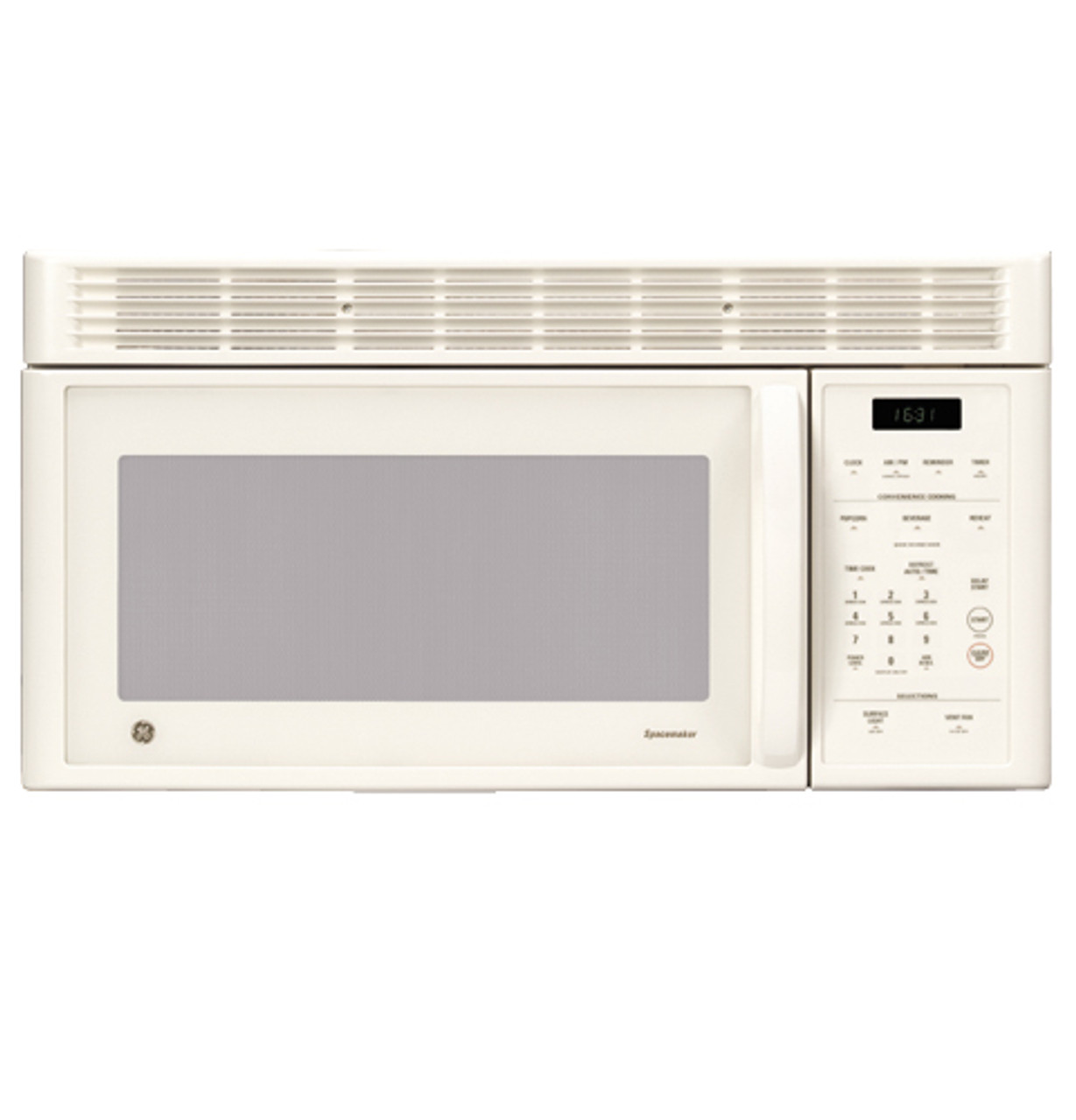 ge spacemaker 1 6 cu ft capacity 1000 watt microwave oven with outside venting jvm1630cd
