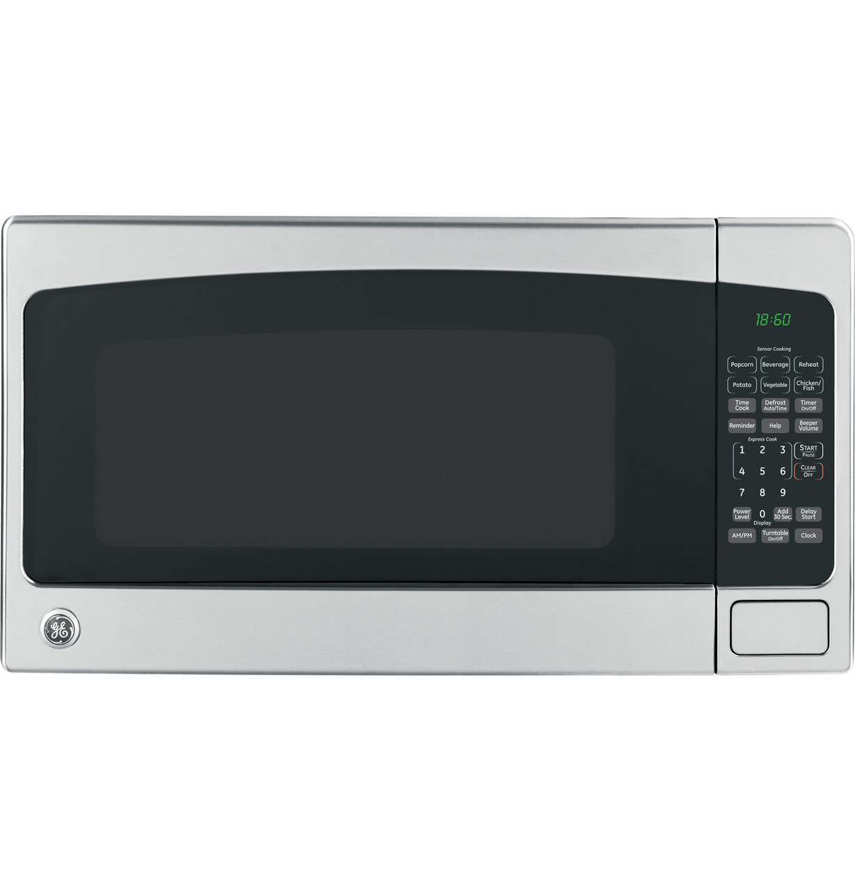 ge 1 8 cu ft countertop microwave oven jeb1860smss