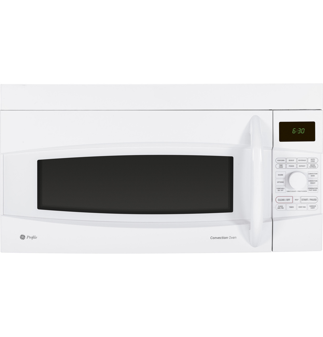 ge profile 1 7 cu ft convection over the range microwave oven pvm1790drww