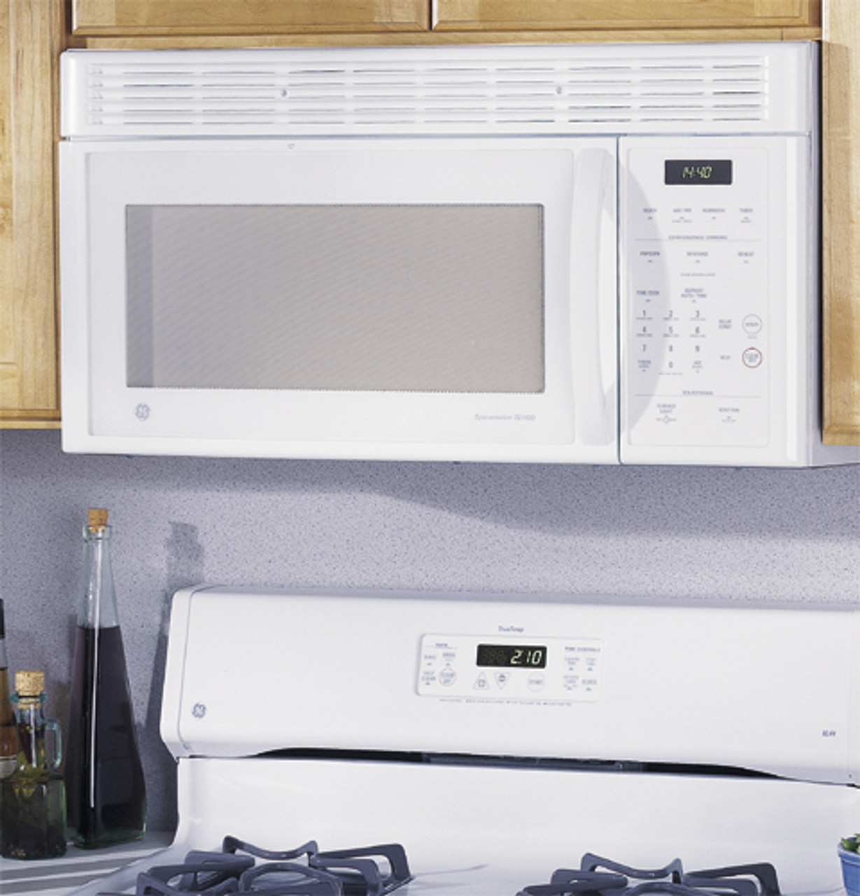 ge spacemaker xl over the range microwave oven jvm1410wc
