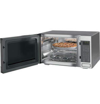 ge profile 1 5 cu ft countertop convection microwave oven peb9159sjss