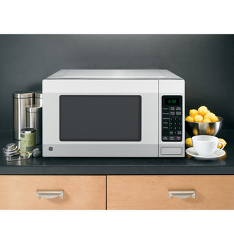ge 1 6 cu ft countertop microwave oven jes1656srss