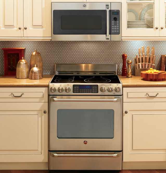 ge cafe series over the range oven with advantium technology csa1201rss