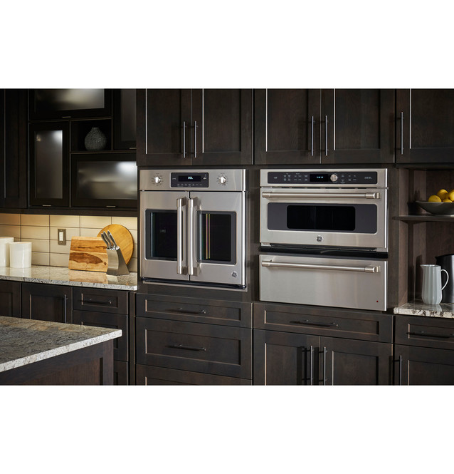 ge cafe series 30 built in french door single convection wall oven ct9070shss