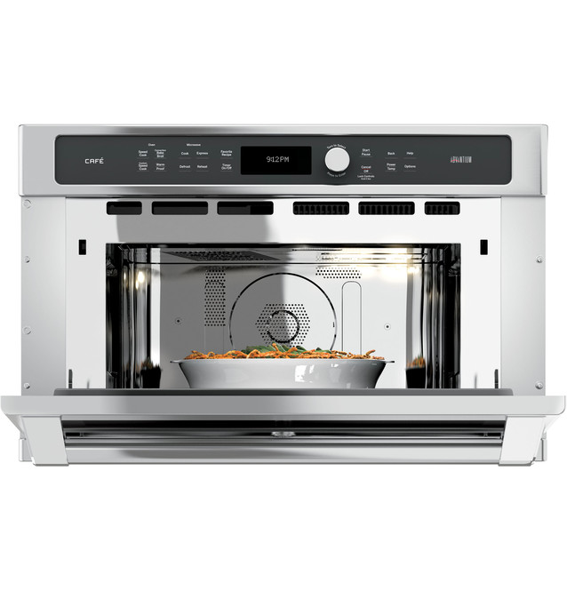 ge cafe series 30 in single wall oven with advantium technology csb9120sjss