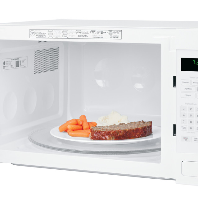 ge profile series 2 2 cu ft countertop microwave oven peb7226dfww