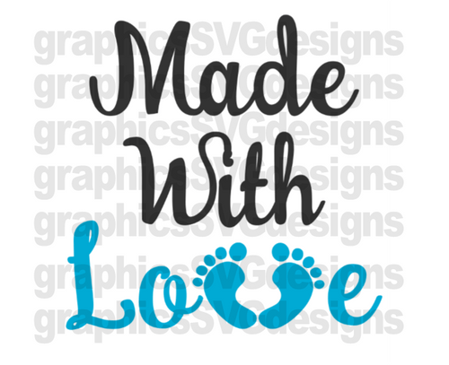 Download Made With Love DIGITAL DOWNLOAD- SVG,DXF,PNG CUTTING FILE