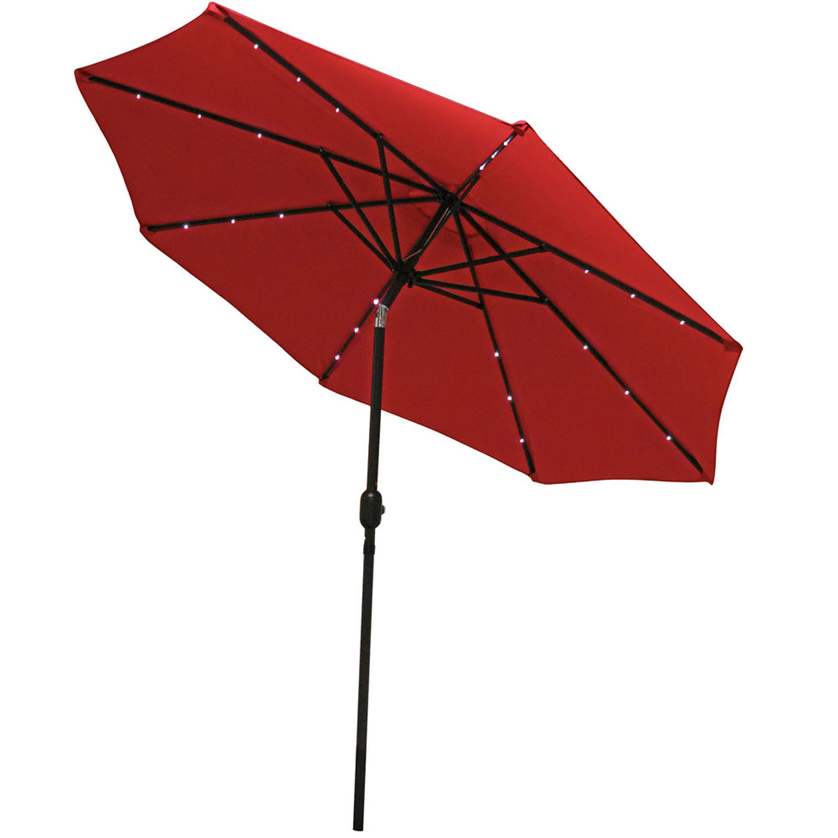 sunnydaze solar powered led lighted patio umbrella with tilt crank 9 foot