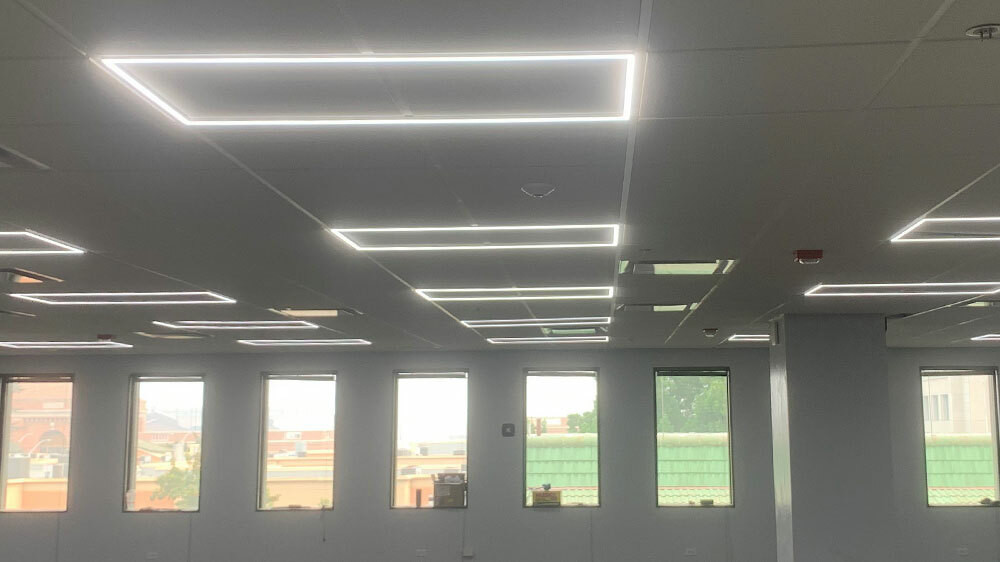 led edge lit drop ceiling recessed grid light 2x4 4000k cool white
