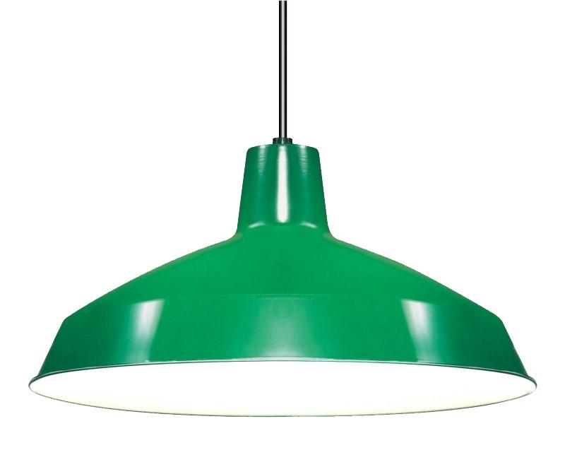green industrial warehouse style pendant 16 diameter
