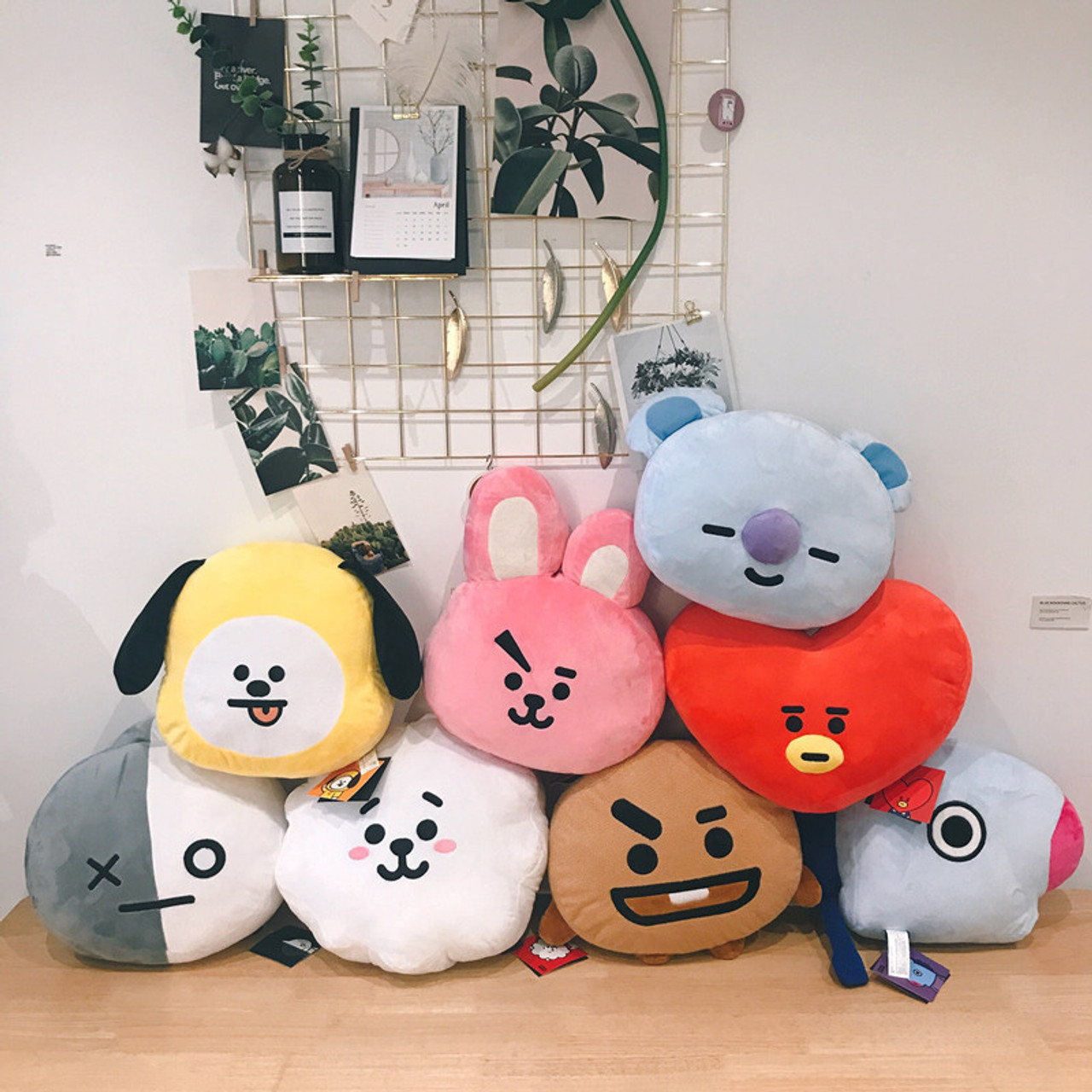 bts doll bt21 toys for children soft plush girls stuff stuffed animals anime pillow rabbits tata van cooky chimmy shooky koya