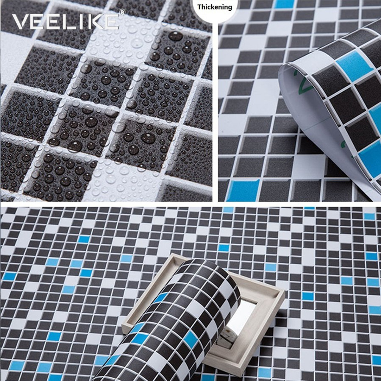 bathroom vinyl pvc self adhesive wallpaper for kitchen backsplash tiles sticker contact paper waterproof home decor wall papers