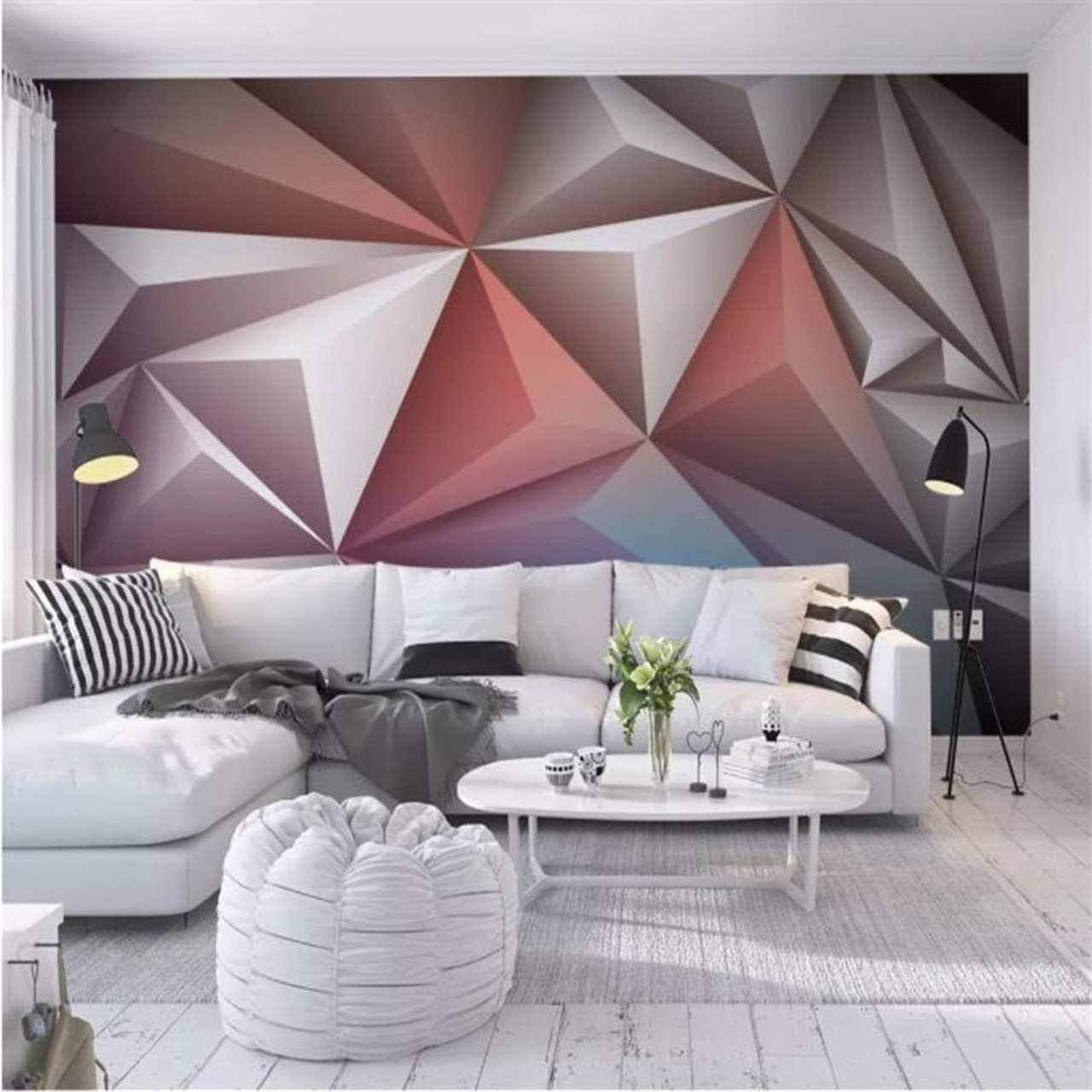 Modern 15D Wall Papers for Walls Cement Silk Cloth Wallpapers Stereoscopic  Gray Mural Bedroom Living Room Decorative Wallpapers