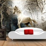 Custom 3d Horse Wallpaper The Winter Forest Murals For Pegasus Bedroom Tv Background Wall Waterproof Wallpaper Onshopdeals Com