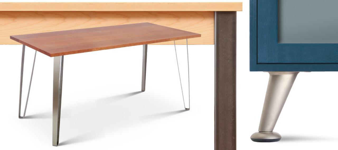 metal table legs industrial modern