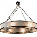 Monaco Large Glass Metal Pendant Light Chandelier Zest Lighting