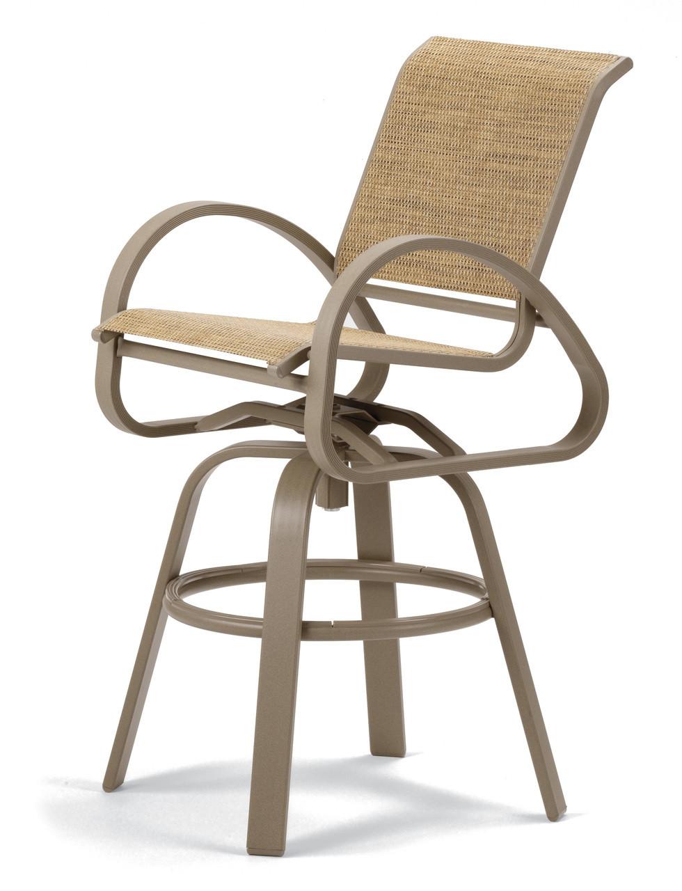 telescope casual aruba sling bar height swivel chair