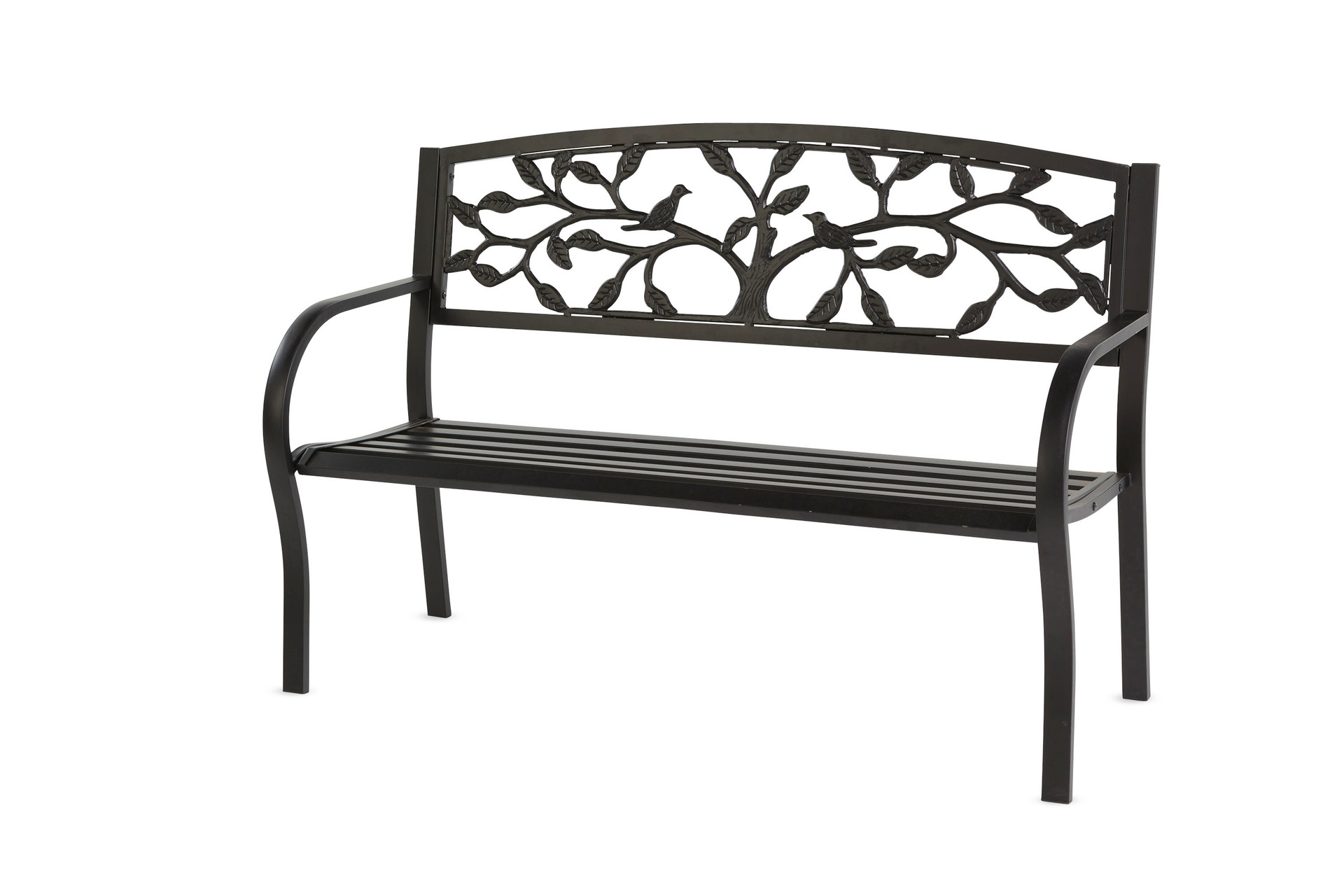 Tree Of Life Metal Garden Bench Black Trees N Trends Home Fashion More