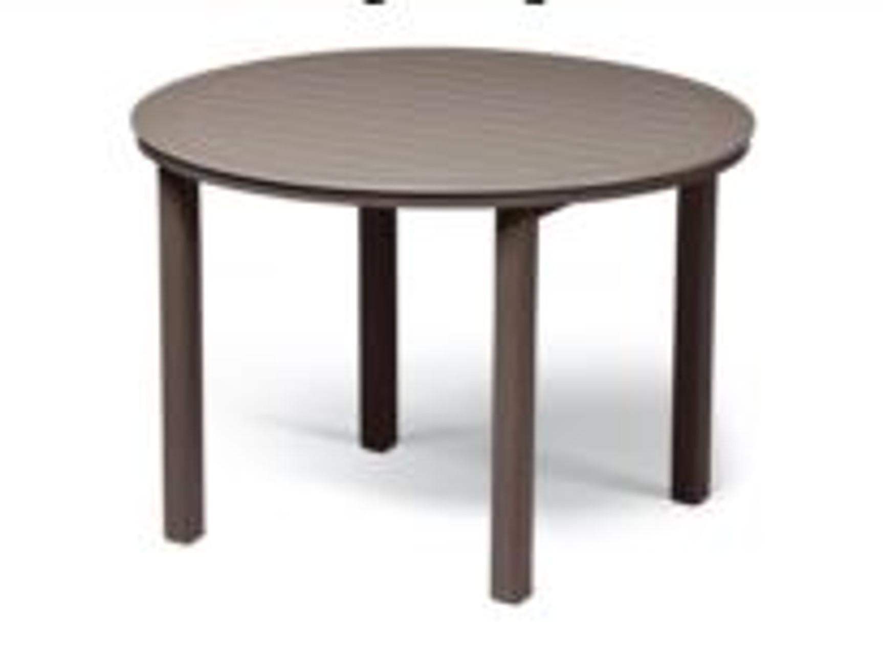 telescope marine grade polymer top table 54 round balcony height table w hole