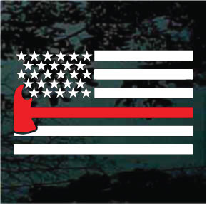 Decal Junky Firefighter Flag Decals Car Window Stickers