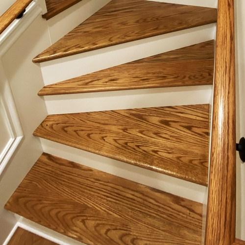 Custom Wood Stair Parts Hardwood Lumber Company | Wood Floor Stair Treads | Brazilian Cherry | Stair Nosing | Oak Stair Risers | Vinyl Flooring | Carpet