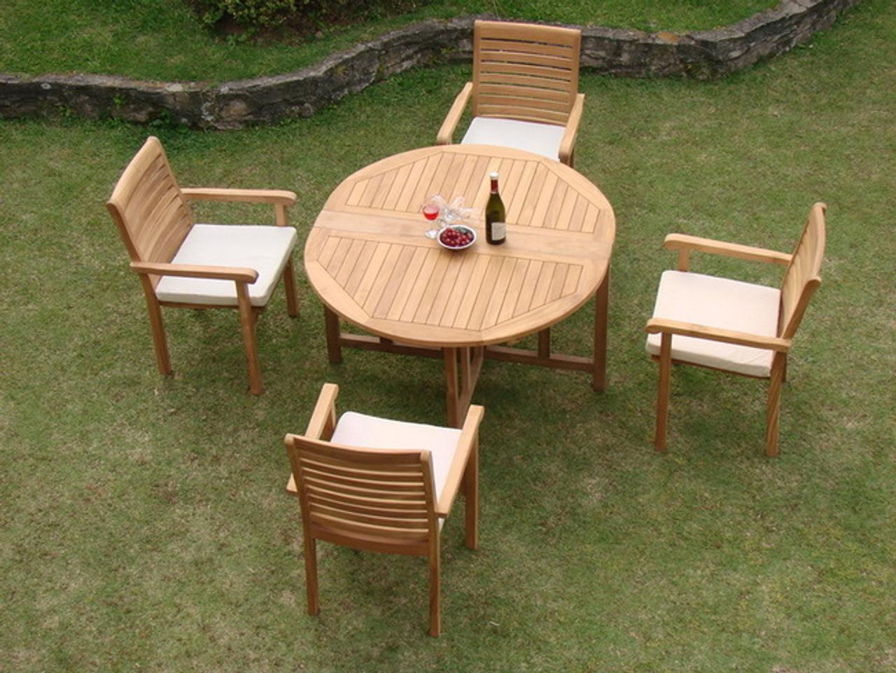 cypress teak patio set